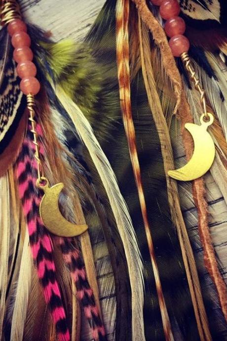 Luna Love Feather Earrings