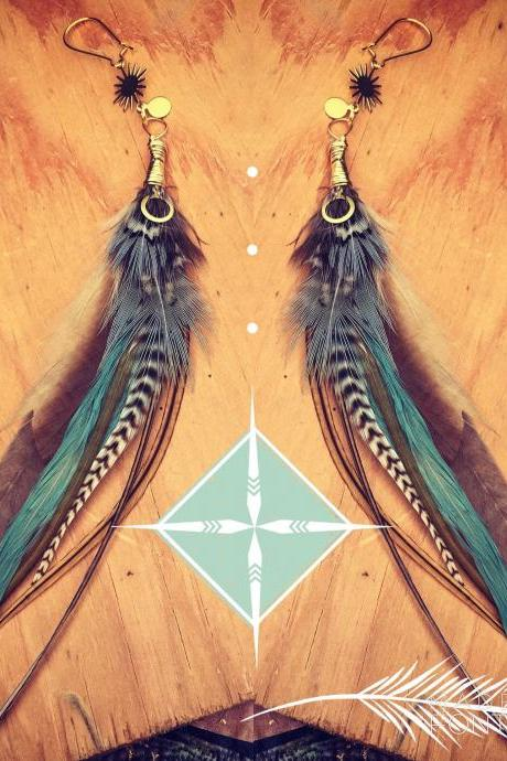 Hippie + The Sun || Feather Earrings || Natural Feathers || Boho || Festival || Love || travel || Goddess || Wild || Light worker || Sun